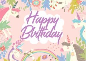 Happy Birthday 2 E-Card Front